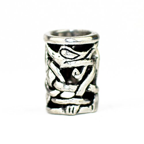 2er Pack Wikinger Perlen mit offenem Knotenwerk im Urne-Stil - Für Bärte, Zöpfe, Schmuck und mehr