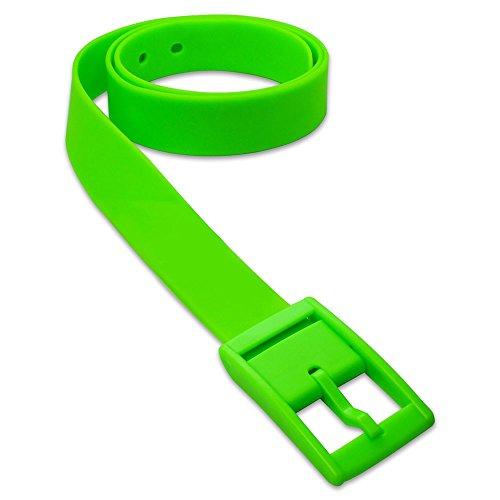 1 St. SoulCats® trendiger Gürtel aus Silikon in vielen Farben unisex neon gelb orange pink blau, Farbe:neon grün