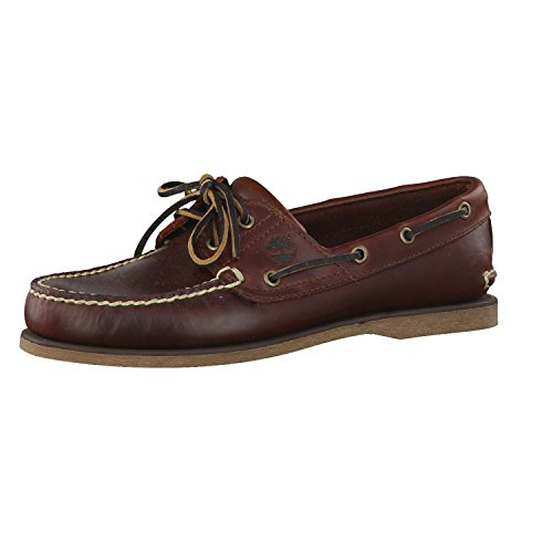 Timberland Classic Boat Amherst 2-Eye Boat, Mocassins homme Rootbeer Brown