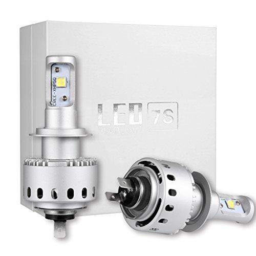 High Power Auto Exterior LED Scheinwerfer Birnen Umbausätze H7 Glühlampen ersetzen Halogen HID Vorderer scheinwerfer - 50w 10000LM 6500K (2er Pack)