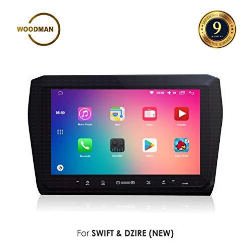 Woodman Car LCD Screen for Maruti Dzire and Swift (Black)