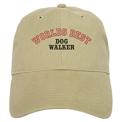Baseballmützen/Hat Trucker Cap Worlds Best Dog Walker Cap - Baseball Cap with Closure, Unique Printed Baseball Hat Adjustable Unisex Suitable for All Seasons -