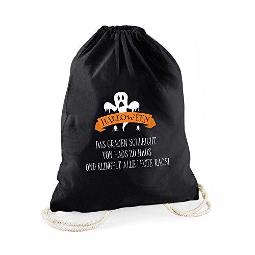 Halloween Beutel - schwarzer Süßigkeitenbeutel