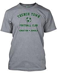 BOB Marley Inspired Trench Town Football Club Ringer, Men's T-Shirt