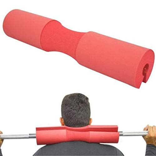 Ipop Retail Barbell Pad Squat Bar Thick Foam Cushion Protector for Neck and Shoulders (RED)