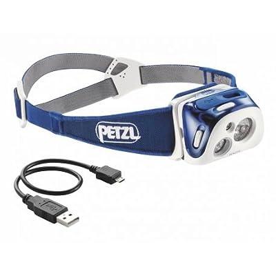 Petzl Reactik Kompakte, Aufladbare und Intelligente Stirnlampe mit Reactive Lighting Technologie, Die Die Lichtintensität Automatisch Den Anforderungen Des Benutzers Anpasst. 220 Lumen