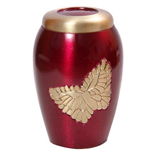 Memorial Messing Urns, Lovely Golden fliegenden Schmetterling pink Urne für Asche