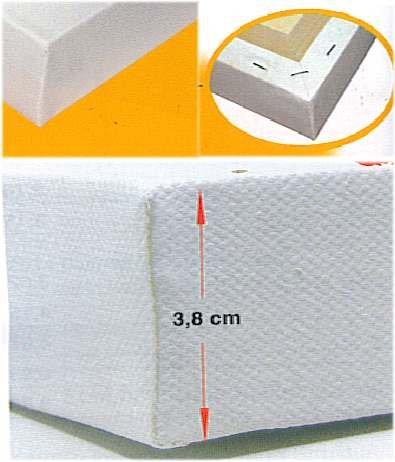 1 Conda Keilrahmen 60 x 70 mit 3,8 cm Leistenstärke 3D Rahmen