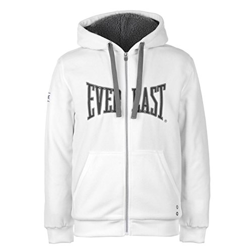 Everlast Mens Polar Fleece Zip Hoody Lined Hoodie Hooded Top Long Sleeve Full