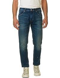 Franklin & Marshall Men's Men's Blue Crop Jeans 100% Cotton
