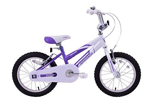 Ammaco Misty Girls BMX bicicletta Kids 40,6cm-Kit freni a V Single Speed viola/bianco in acciaio, età 5+ - Speed acciaio