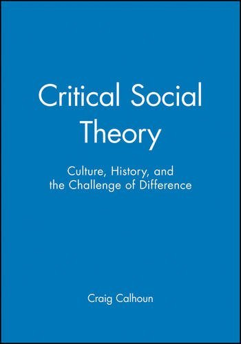 Critical Social Theory: Culture, History, and the Challenge of Difference by Craig Calhoun (1995-08-29)