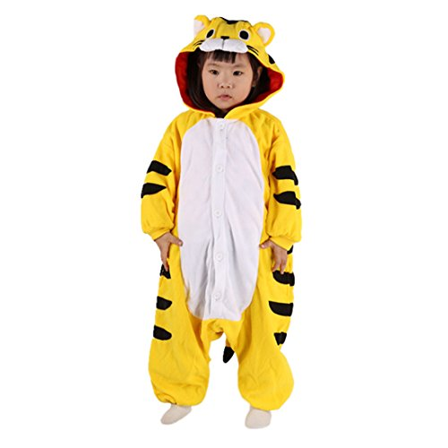 DarkCom Children ' s Day Kostüme Kigurumi Strampelanzug Tier Cosplay Jumpsuit Cute Outfit Gelben Tiger
