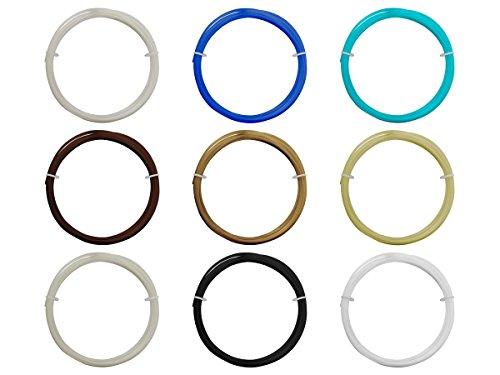 Monoprice Pack échantillon de 9 rouleaux de filament de 1,75 mm, 0,3 kg au total, PLA, ABS, PVA, PETG, nettoyage, haute précision et haute résolution