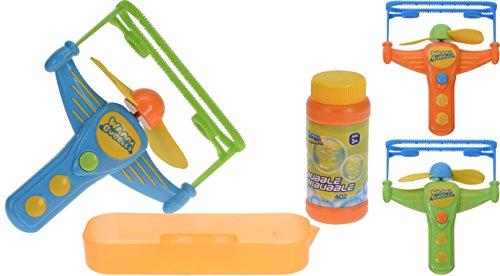hibuy Seifenblasenpistole, batteriebetrieben für große und kleine Seifenblasen grün