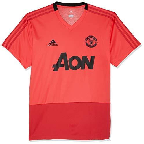 adidas Herren Manchester United FC Training Kurzarm Sweatshirt, Core Pink/Blaze Red/Black, L - Pullover United Manchester