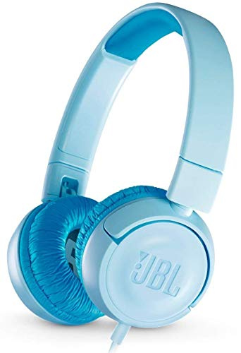 JBL JR300 Kinder-Kopfhörer in Blau - Kabelgebundene On-Ear Kopfhörer mit Lautstärkebegrenzung - Speziell entwickelt für Kinder