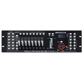 Showlite Master Pro 192 Kanal DMX Controller (zur professionellen Lichtsteuerung, USB Anschluss zur Datenspeicherung, max. 240 Szenespeicher, Midi-Input: 5-pol Standard Interface)