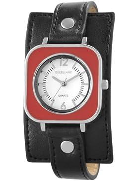 Excellanc Damen-Armbanduhr Analog Quarz Leder 195021100135