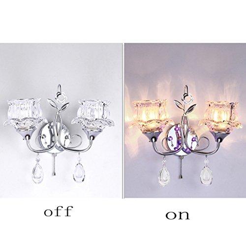HOMEE Wandleuchte-Kristall einfache kreative LED Kristall Schlafzimmer Wohnzimmer Gang Treppen Nachttischlampe,Clear-5W LED (Kaufen Tv Clear)