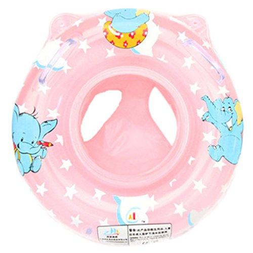 DEMU Baby Schwimmreifen Schwimmring Schwimmhilfe Schwimmsitz Aufblasbar Schwimmboot (Pink)