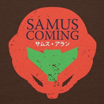 Planet Nerd - Samus is coming - Herren T-Shirt Braun