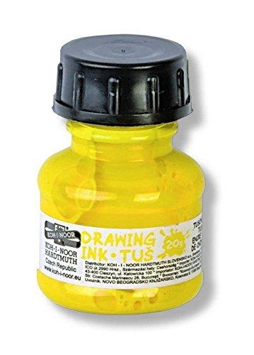 Koh-I-Noor 014172300000 farbige Zeichnung Tinte 20 g, ink, gelb, 3.1 x 3.1 x 5.0 cm