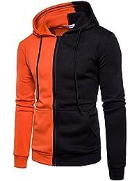 Cebbay Liquidación Sudadera con Capucha de los Hombres Manga Larga Deportes Panel Zip Top Shirt Sweater Jacket