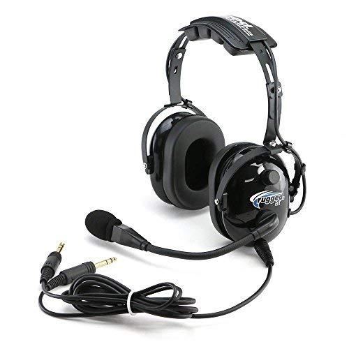 General Aviation Headset (Rugged Air RA200 Black General Aviation Pilot Headset by Rugged Air)