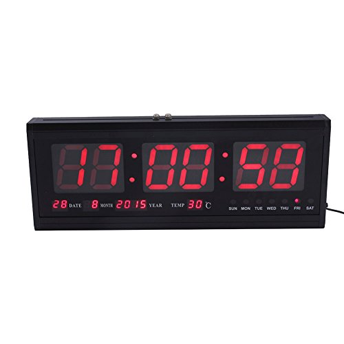 Yosoo Reloj Digital Grande LED Calendario Fecha Temperatura