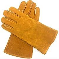 Soldadura de cuero multifuncional de color amarillo puro Soldadura Guantes para ARCO MIG TIG MMA Resistente