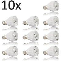 Adattatore attacco lampadina da E14 a GU10, set da 10