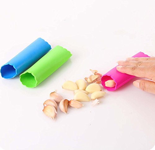Peel Canister, Knoblauch Peeler, magische Silikon Peel Easy Kitchen Tool Farbe zufällige Anzahl 1