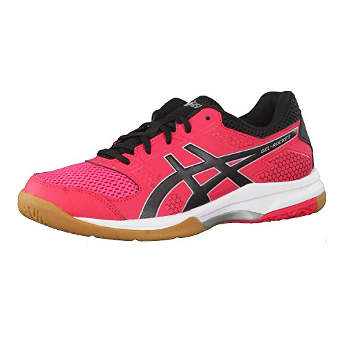 ASICS Scarpe da pallavolo Gel-Rocket 8, Donna, Rouge Red/Black/White, 46 (EU)