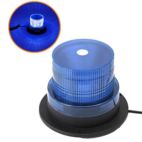 Mioke LEDWarnleuchteWarnlicht LEDRundumleuchteAutoSignalMit12vZigarettenanzünderSteckerSuperMagnetfußBlitzleuchte (Orange) (blau)