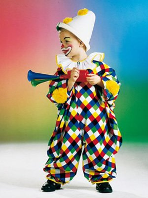 Fanartikel M�ller 118.122.04 Bunter Clown Overall Gr. 98-104 Kinderkost�m