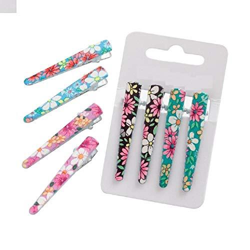 BellaMira - Clips de pelo para niñas, para vestir, maquillaje, disfraz, cumpleaños, diseño de mariposa, unicornio, gato floral