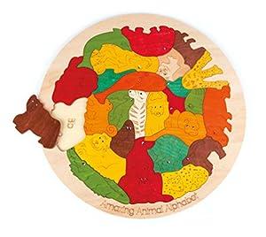 Hape- Puzzle encajable Infantil Capas Alfabeto Animales (Barrutoys E6524)