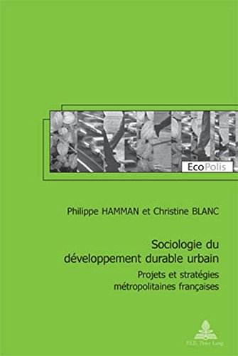 Sociologie Du Developpement Durable Urba...