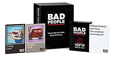 BAD PEOPLE The Party Game You Probably Shouldn't Play + The NSFW Brutal Expansion Pack