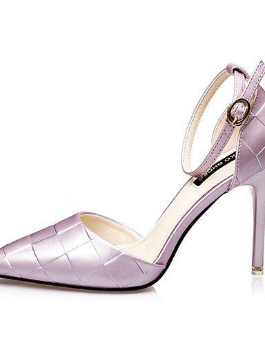 WSS 2016 Chaussures Femme-Décontracté-Noir / Violet / Argent / Fuchsia-Talon Aiguille-Talons-Chaussures à Talons-Soie silver-us4-4.5 / eu34 / uk2-2.5 / cn33