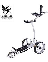 Carrito de golf eléctrico gryffon Professional Antracita, Plata o Blanco con iones de hierro batería/24V Lithium eléctrico Caddy Golf/–Carrito eléctrico plata