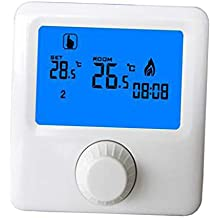 B Blesiya HY06BW Termostato de Pared Control Manual Calefacción Programable Pantalla de Temperatura Interior Casa Inteligente