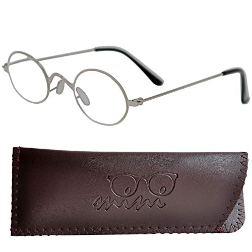 d5421a6cb4 Gafas de Lectura Estilo Profesor con Cristales Ovalados Redondeados - Funda  GRATIS incluida | Montura Retro