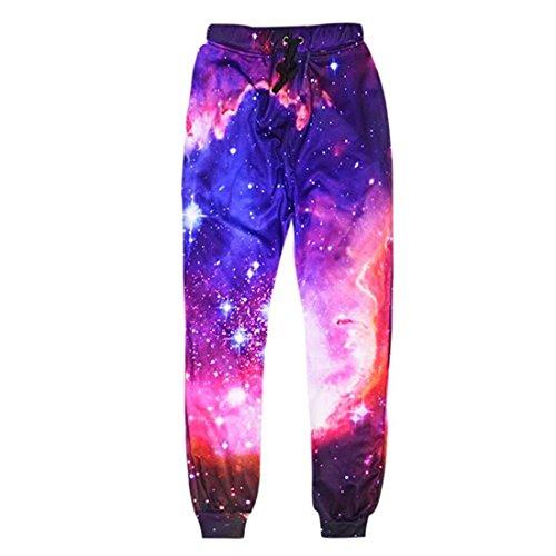 ADREAMONE 3D Galaxy Graphic Jogger Hosen Hosen Frauen Herren Cool Sweatpants