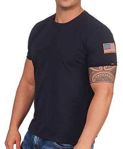 Alpha Industries NASA T-Shirt Dunkelblau M - Industrie-designer
