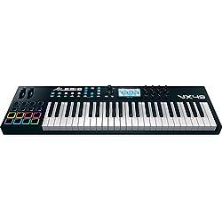 Alesis VX49 - Teclado USB MIDI avanzado de 49 teclas con pantalla a todo color, pads, controles asignables y software Virtual Instrument Player incluido