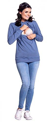 Zeta Ville - Still-Sweatshirt Kapuze Lagendesign Kapuzenpullover - Damen - 272c Jeans