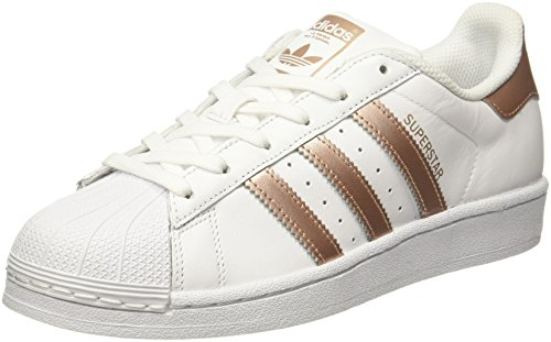 adidas Women's Superstar W Low-Top Sneakers, White (Ftwwht/Supcol/Ftwwht), 7 UK