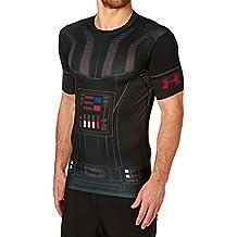 Under Armour Vader Full Suit Comp SS Camiseta de Manga Corta, Hombre, Negro, L